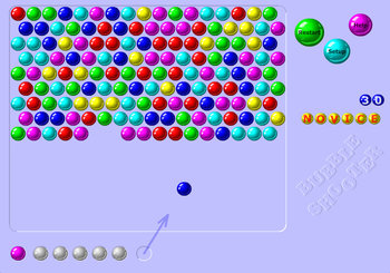"Spēle ""Bubble Shooter"""