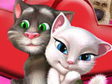 "Game ""Tom Cat Kissing"""