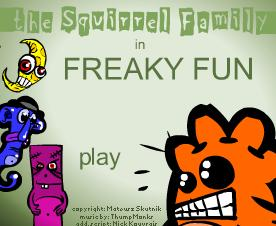 "Игра""The squirrel Family in Freaky Fun"""