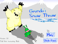 "Game""Grundos Snow Throw"""