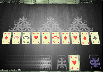 "Game""Tri Peak Solitaire"""
