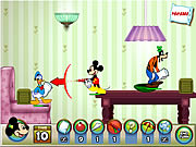 "Spēle""Mickey and Friends in Pillow Fight"""