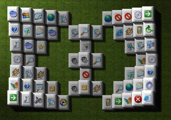 "Game ""Mahjongg 3D Windows Tiles"""