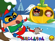 "Game""Crayon Shin Snowball Fight"""
