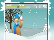 "Game""Simpsons Snowball Fight"""