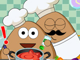 "Game""Pou Kitchen Slacking"""