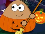 "Game""Pou Halloween Cleanup"""