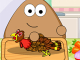 "Game""Pou Thanksgiving Day Slacking"""