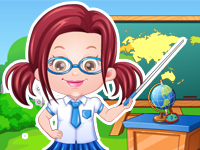 "Game""Baby Hazel Teacher Dressup"""