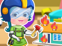 "Game""Baby Hazel Firefighter Dressup"""