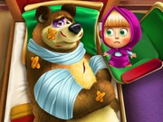 "Žaidimas""Masha and the Bear Injured"""