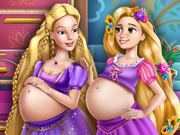"Game""Barbie and Rapunzel Pregnant BFFs"""