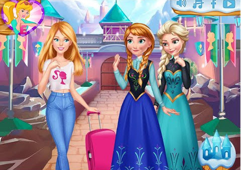"Spēle""Barbies Trip to Arendelle"""