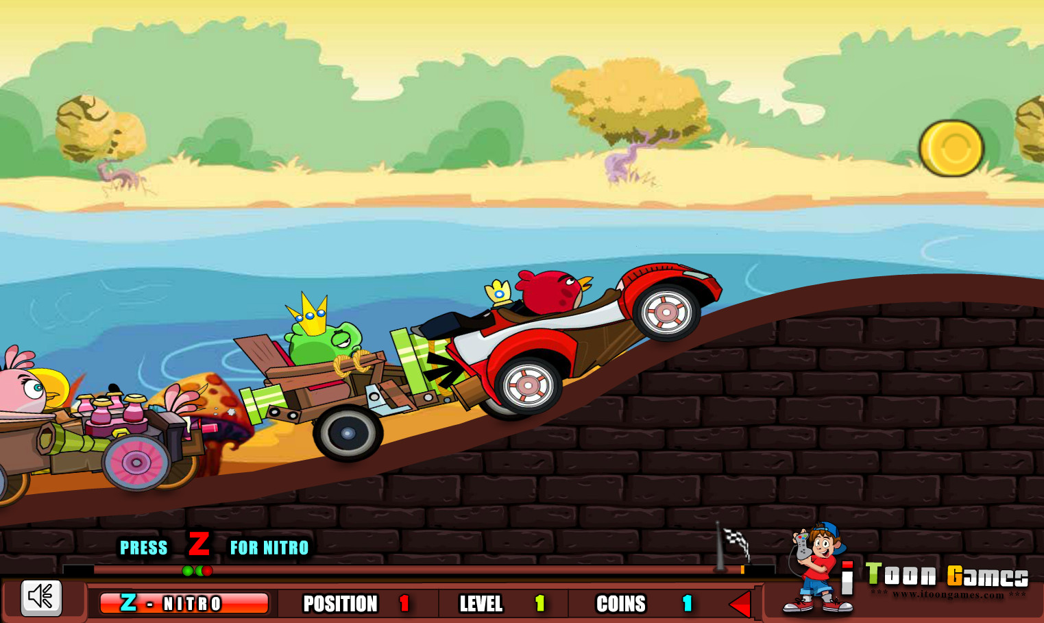 "Game ""Angry Birds Super Race"""