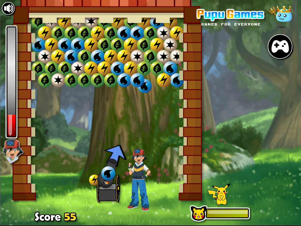 "Game ""Pokemon Bubble Pop"""