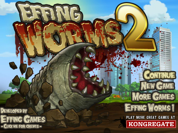 "Игра""Effing Worms 2"""