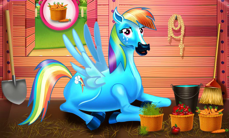 "Spēle""Rainbow Dash And The New Born Baby"""