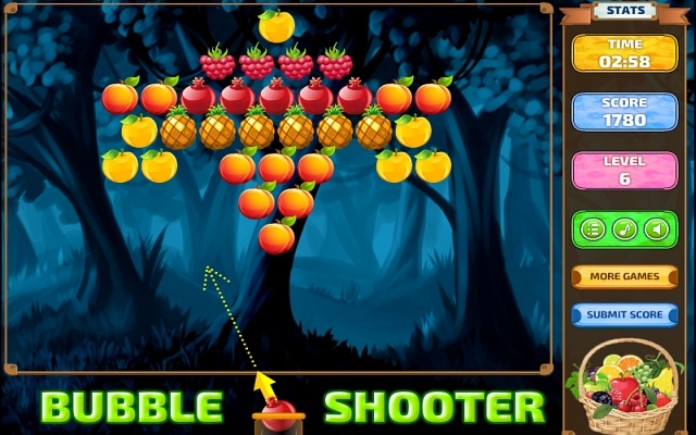 "Game""Bubble Shoot Fruits"""