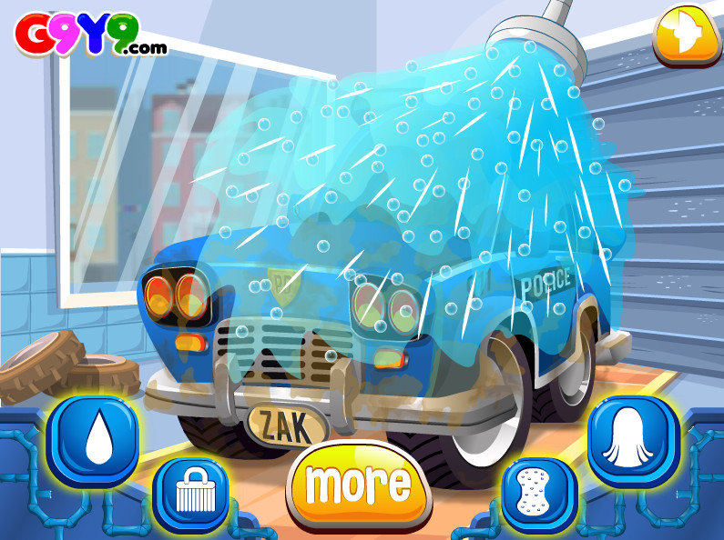 "Game""Police Car Wash"""
