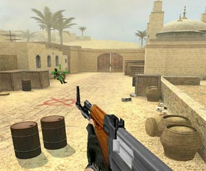 "Spēle""Counter Strike De Dust"""