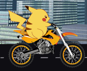 "Game ""Pickachu Bike Trip"""