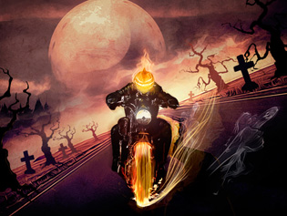 "Game""Halloween Ghost Rider"""