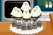 "Game ""Halloween Ghost Cupcakes"""