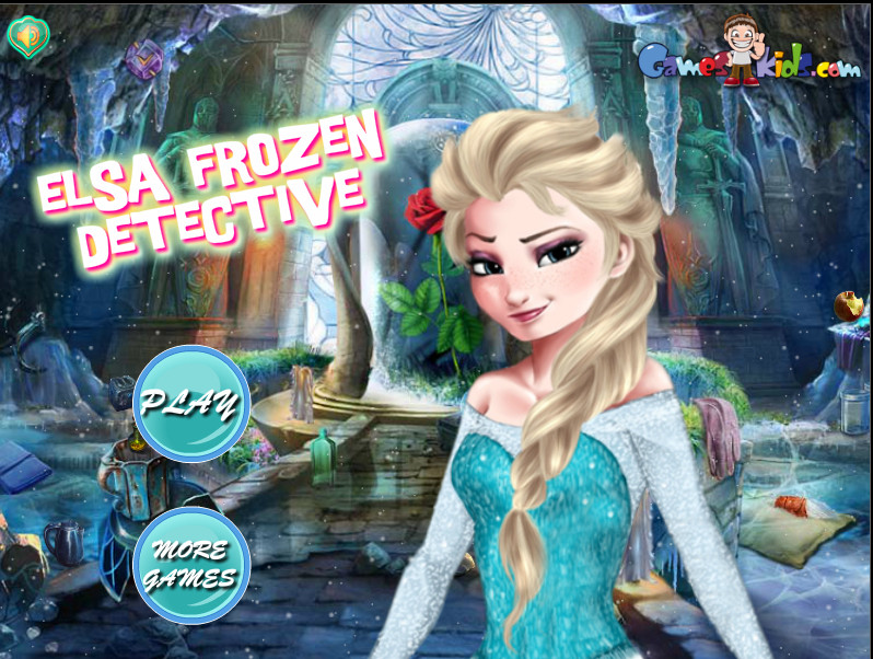 "Game""Elsa Frozen Detective"""