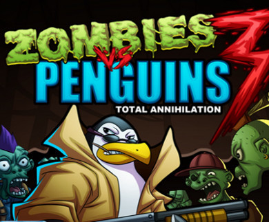 "Žaidimas""Zombies vs Penguins"""