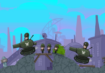 "Game ""Artillery Rush"""