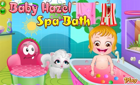 baby hazel spa bath inbox games. Black Bedroom Furniture Sets. Home Design Ideas