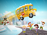 "Game ""Winter School Bus Parking"""