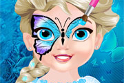 "Game""Baby Elsa Butterfly Face Art"""
