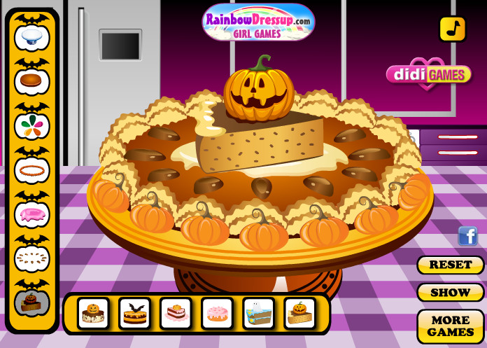 "Game ""Halloween Pumpkin Pie"""